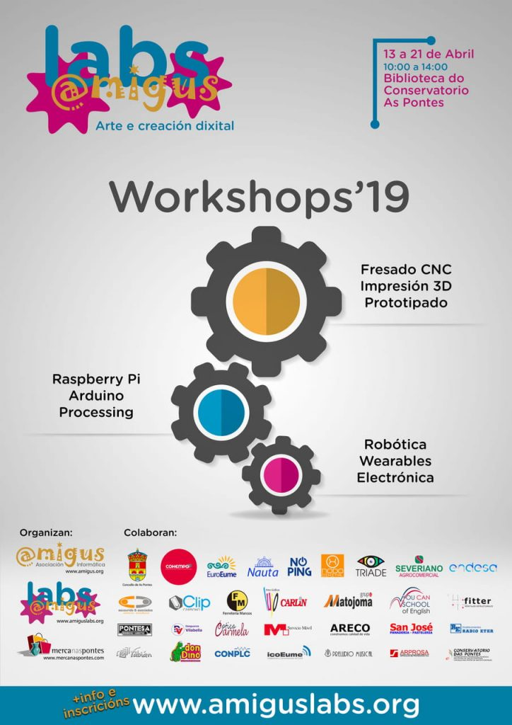 Cartel AmigusLabs Workshop abril