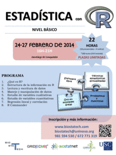 Cartel do curso de Estatística con R