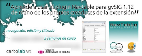 Cartel do curso sobre NAvTable