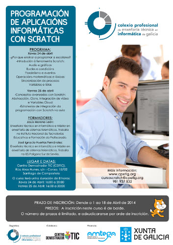 Cartel do curso de Scratch