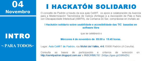 Banner do hackatón